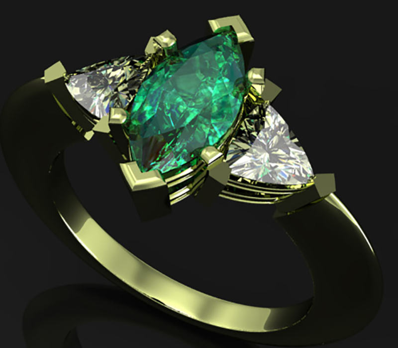 emerald-ring–cad