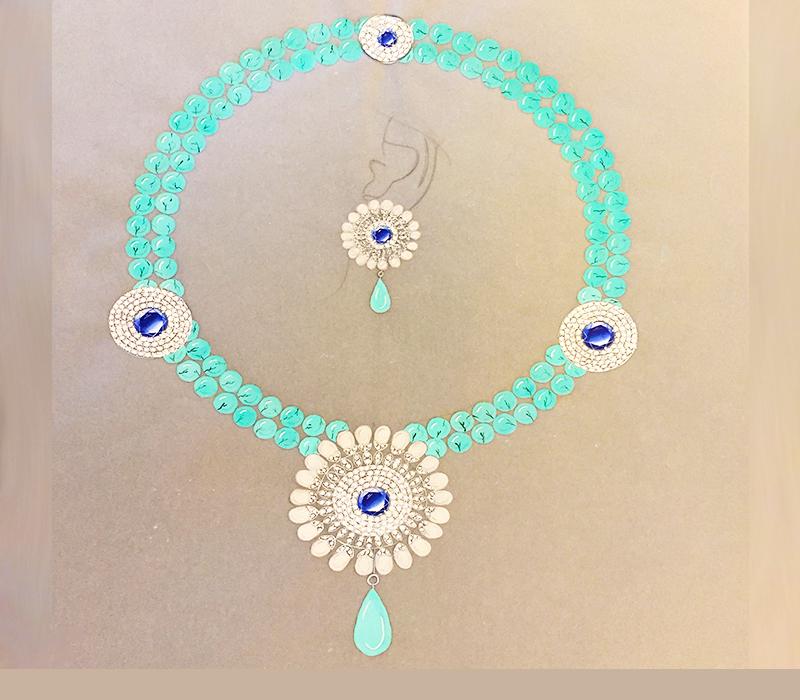 watercolor necklace by Niyati Mehta